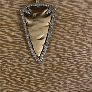 "Mixed metal ""arrowhead"" necklace"